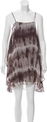Alice + Olivia Silk Tie-Dye Dress
