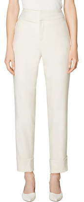 SUISTUDIO Lane Cuffed Wool Ankle Trousers