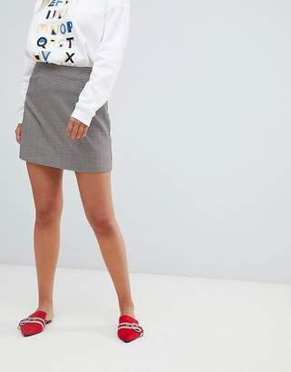 New Look Check Mini Skirt