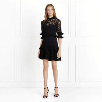 Rachel Zoe Janina Garden Lace Ruffled Mini Dress