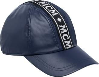MCM Logo Tape Cap In Nappa Leather