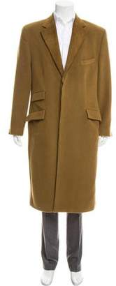 Gianni Versace Wool Three-Button Overcoat