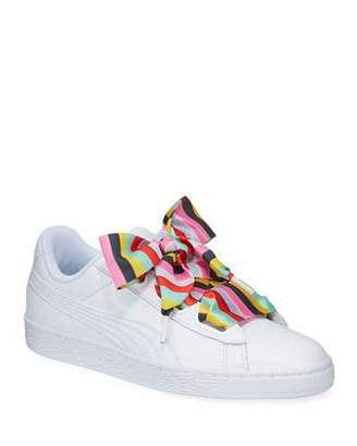 Puma Basket Heart Gen Hustle Leather Sneakers