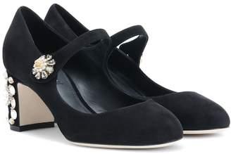 Dolce & Gabbana Embellished suede pumps