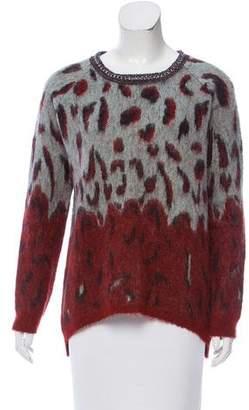 Maison Scotch Patterned Embellished Sweater