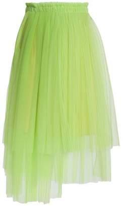 MSGM Asymmetric Layered Tulle Midi Skirt