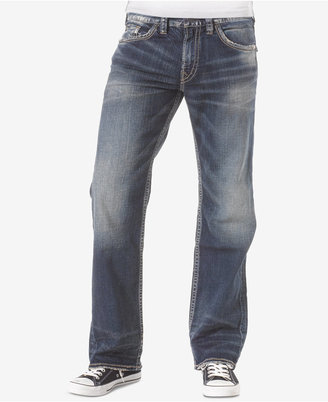 Silver Jeans Co. Men's Zac Relaxed Fit Straight Stretch Jeans $99 thestylecure.com