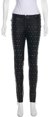 Thomas Wylde Studded Mid-Rise Pants