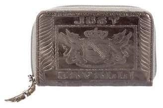 Just Cavalli Embossed Compact Zip Wallet