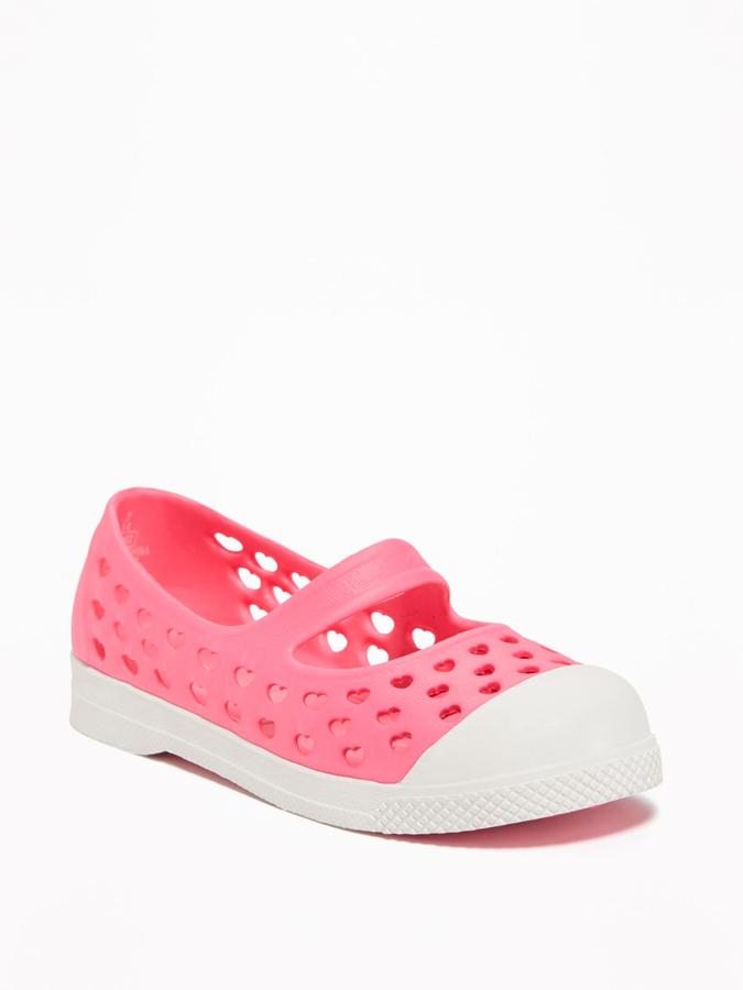 Perforated Pop-Color Slip-Ons for Toddler Girls 4