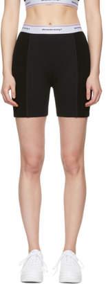 Alexander Wang Black Wash and Go Logo Bike Shorts