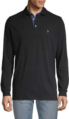 Tailorbyrd Long-Sleeve Cotton Polo