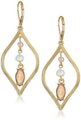 Anne Klein Gold Tone Stone Drop Earrings
