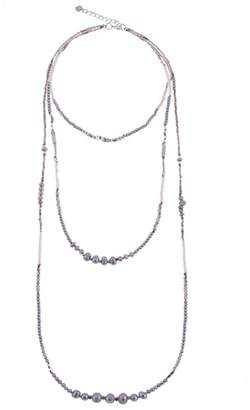 Nakamol Design Triple Strand Beaded Freshwater Pearl Necklace