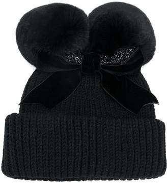 CA4LA pom-pom beanie hat