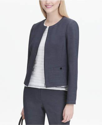 Calvin Klein Collarless Zip-Front Blazer