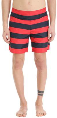 Jil Sander Blue/red Nylon Swimwear