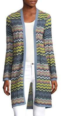 M Missoni Wave Ripple Open-Front Cardigan