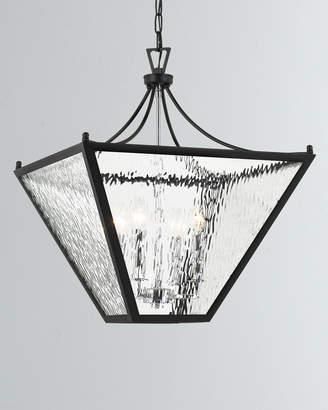 Park Hill 4-Light Matte Black and Polished Chrome Medium Lantern