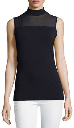 Bailey 44 Tess Mock-Neck Illusion Top $128 thestylecure.com