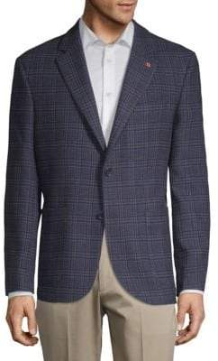 Plaid Houndstooth Suit Jacket