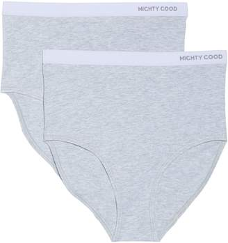 MIGHTY GOOD UNDIES 2-Pack Stretch Organic Cotton High Waist Girlfriend Briefs