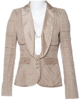 CNC Costume National Beige Silk Jackets