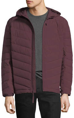 Andrew Marc Delavan 4-Way Stretch Packable Hooded Down Jacket