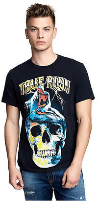 True Religion MENS VINTAGE INSPIRED SKULL GRAPHIC TEE
