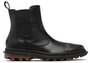 Sorel Men's Ace Waterproof Leather Chelsea Boots - Black - Size 11.5