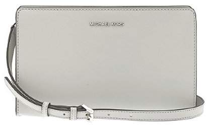 Michael Kors Jet Set Large Leather - Clutch - Pearl Grey - 32F6STVC3L-081 - GRAY - STYLE