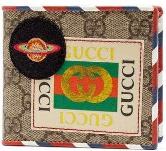 Gucci Gg Supreme Ufo Bi Fold Wallet - Mens - Brown Multi