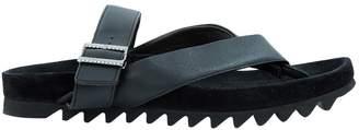Lanvin Black Leather Sandals