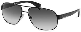 Prada Metal Pilot Sunglasses, 61mm $300 thestylecure.com