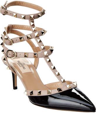 Valentino Rockstud 65 Leather Ankle Strap Pump