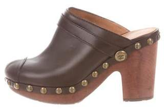 Chanel Leather Round-Toe Clogs