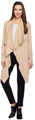 G.I.L.I. Got It Love It G.I.L.I. Faux Suede Drape Front Asymmetric Closure Jacket