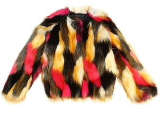 Finger In The Nose Printed Faux Fur Jacket