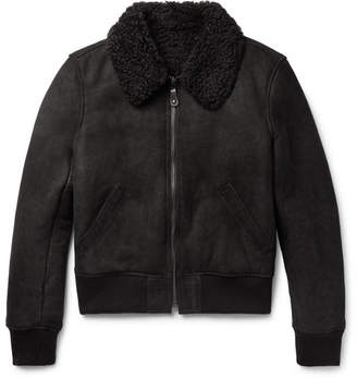 Yves Salomon Slim-Fit Shearling Bomber Jacket