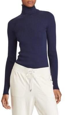 Lauren Ralph Lauren Ribbed Cotton-Blend Turtleneck