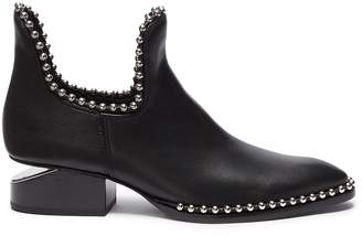 Alexander Wang 'Kori' cutout heel ball chain trim boots
