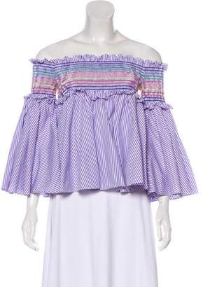 Petersyn Off-The-Shoulder Striped Top