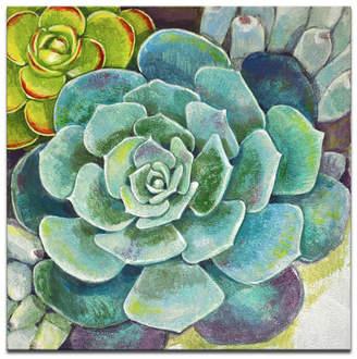 "Ready2HangArt 'Botanical Bliss Ii' Floral Canvas Wall Art, 20x20"""