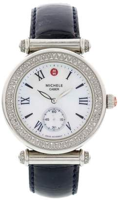 Michele MW16A01A2025 Caber Diamond Bezel Stainless Steel Ladies Watch