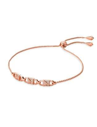 Michael Kors Mercer Padlock Crystal Slider Bracelet