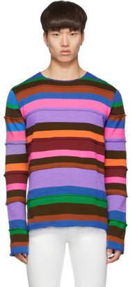 Comme des Garcons Multicolor Striped Gauge 7 Sweater