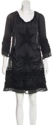 Zucca Semi-Sheer Mini Dress