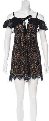 For Love & Lemons Lace Mini Dress