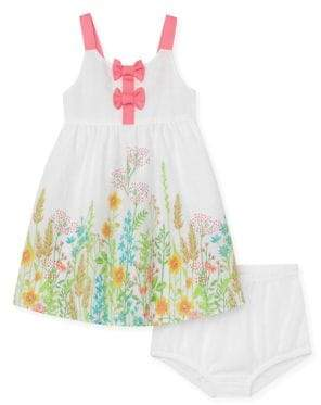 Penelope Mack Baby Girl's Two-Piece Floral Print Sundress and Panty Set