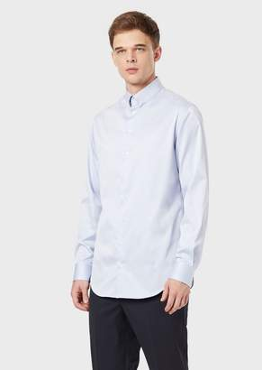 Giorgio Armani Regular-Fit Shirt In Cotton Twill